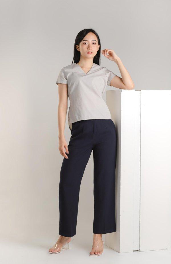Annisa Elastic Back Top - Grey