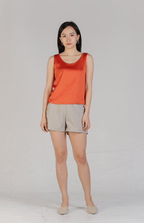 Maisy Scoop Neck Top - Orange