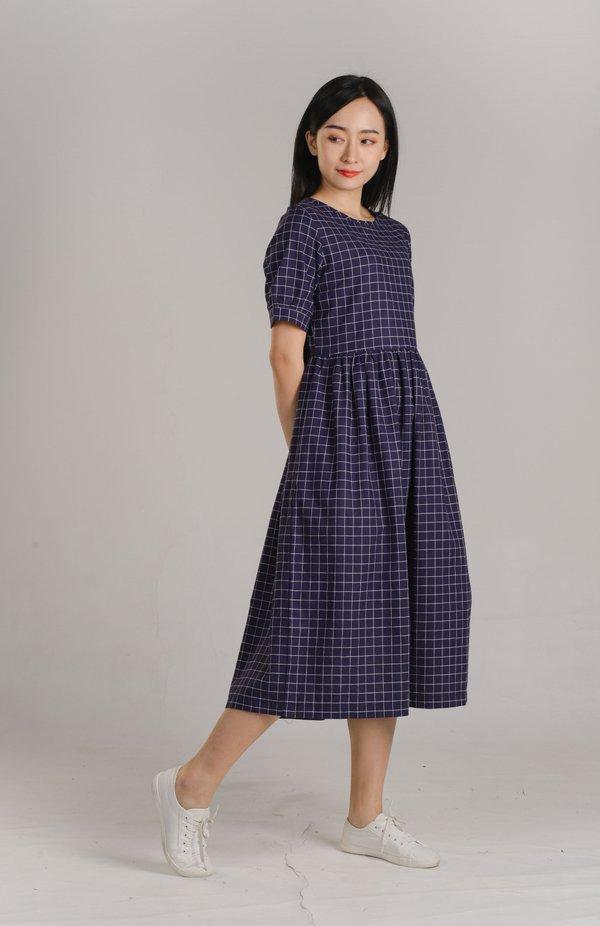 Abby Checkered Midaxi Dress