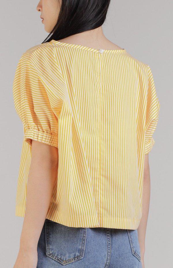 Jena Boxy Cropped Top - Yellow
