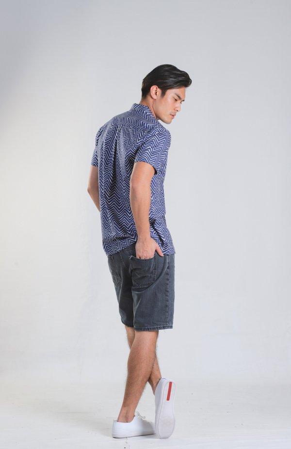 Jaeron Blue Chevron Shirt