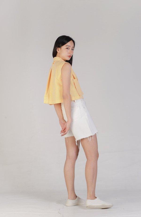 Jordyn Front Pocket Top - Yellow