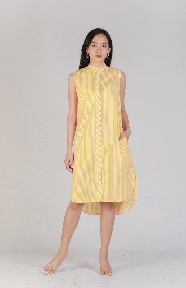 Jaha Mandarin Collar Shirt Dress