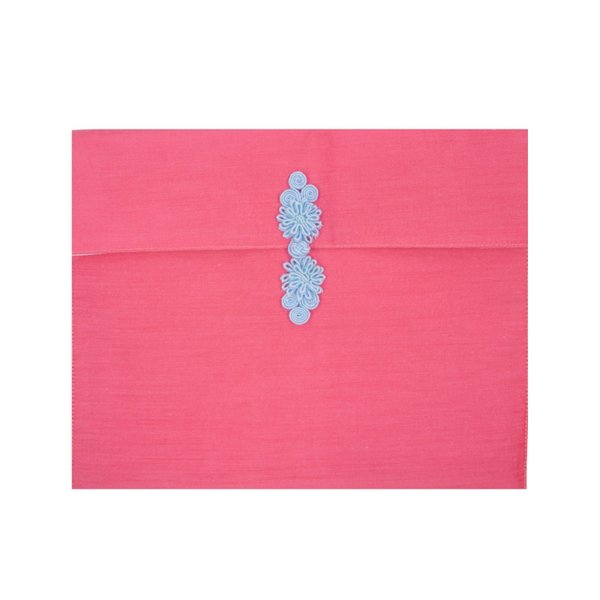 CHINESE KNOT POUCH - PINK / BLUE