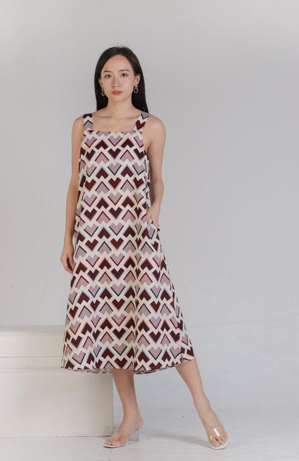 Jonita Chevron Dress