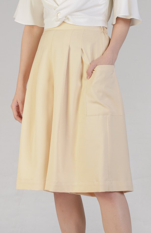 Meir Loose Pants - Pale Yellow