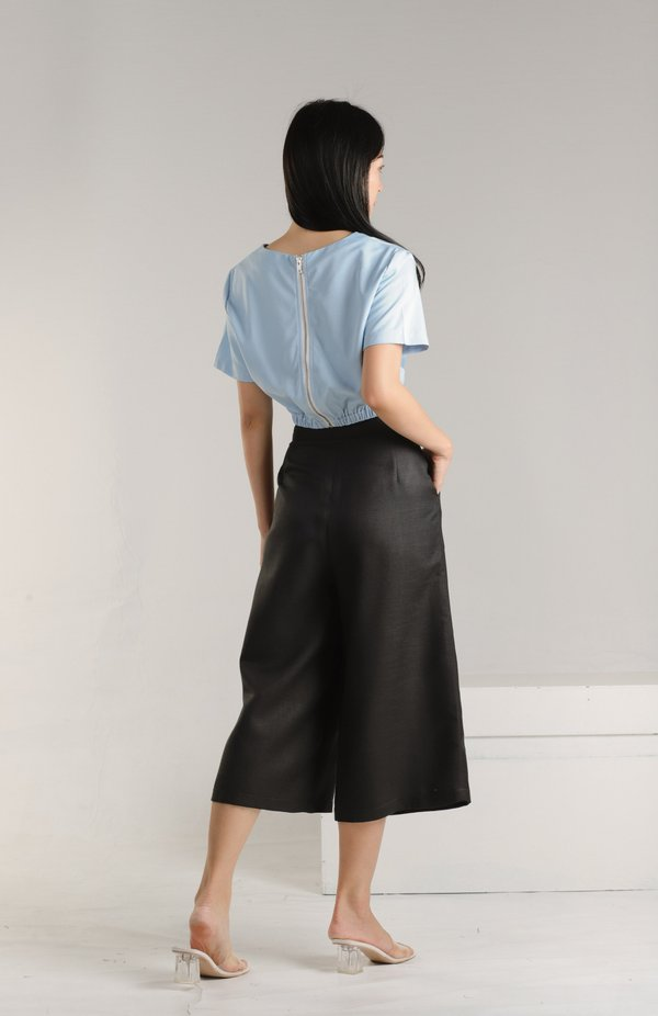 Alana Linen Culottes - Black