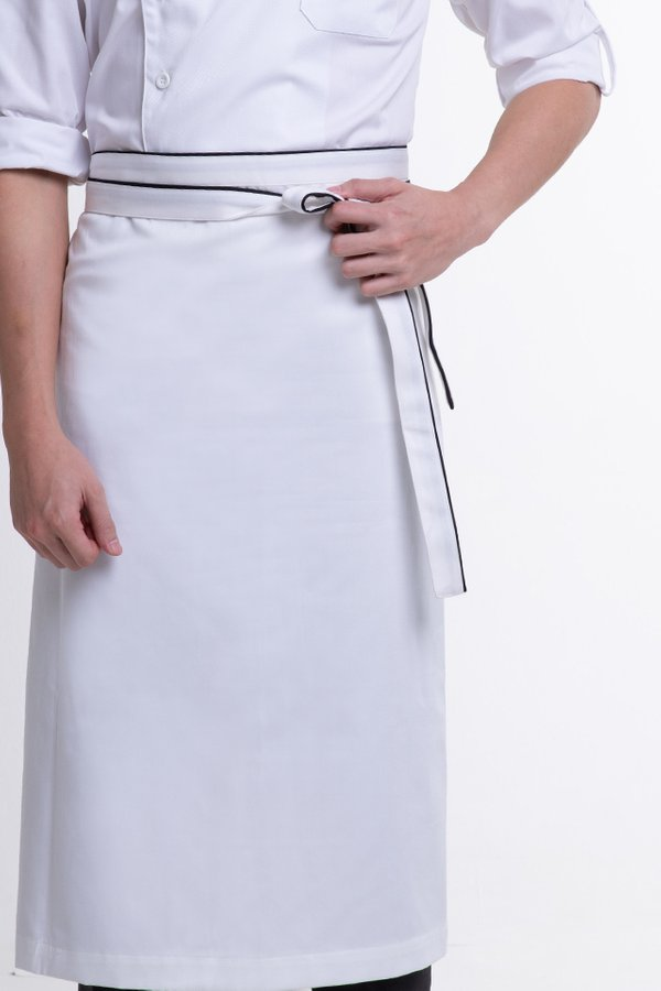 Half Apron with Contrast Piping (FHG-1873) & without Contrast Piping (FHG-1874)