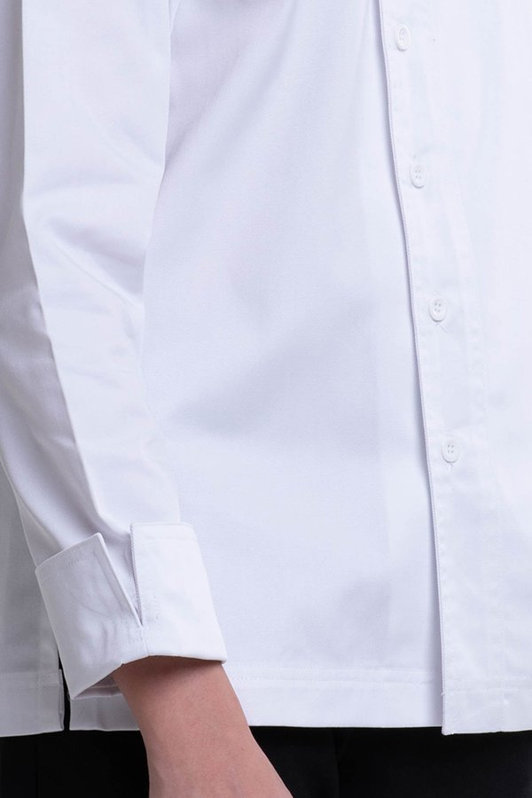 Long Sleeve Chef Jacket with Contrast Piping (FHE-1858)