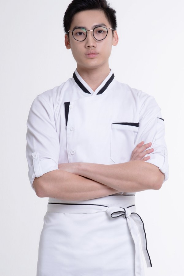 Long Sleeve Chef Jacket with Contrast Trim (FHE-1859)