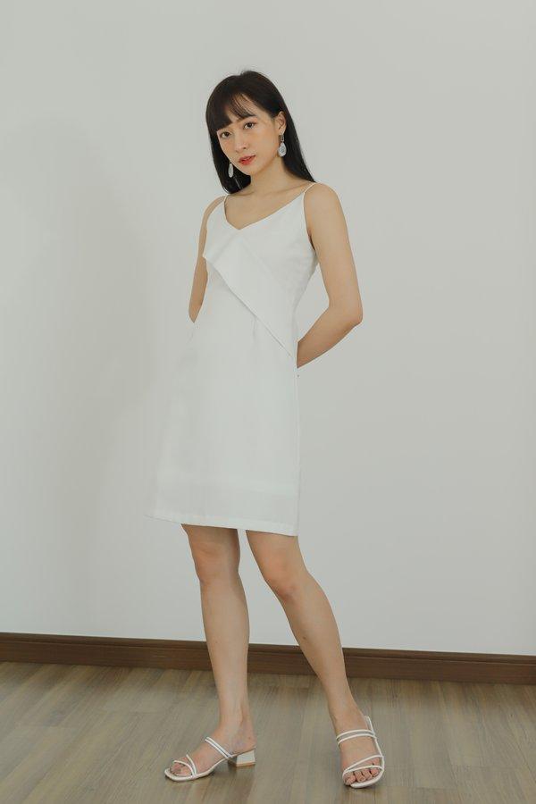 Azalea Ruffles Cami Dress - White