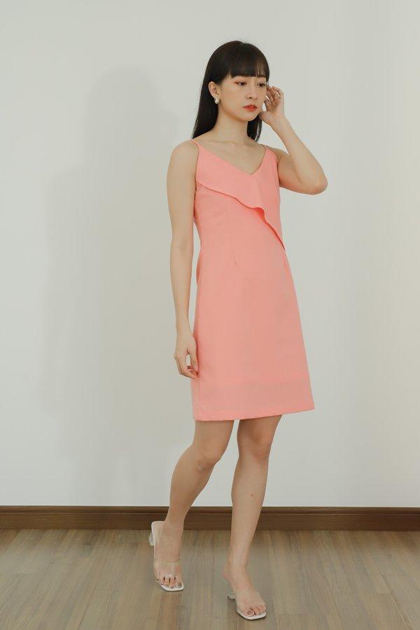 Azalea Ruffles Cami Dress - Pink