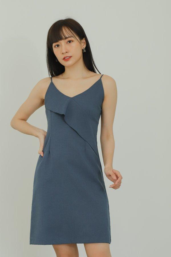 Azalea Ruffles Cami Dress - Navy