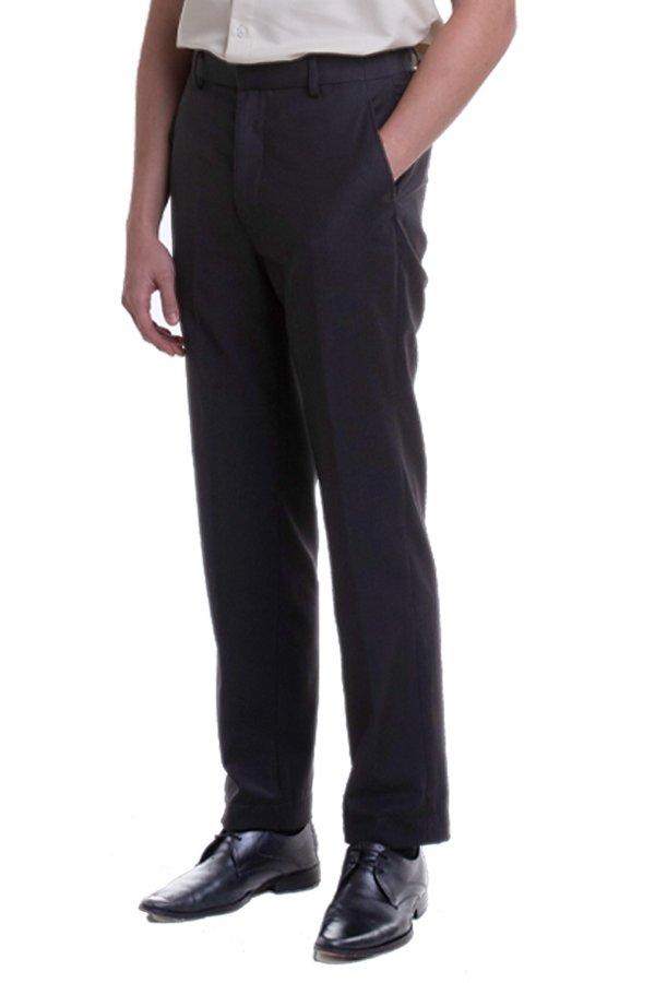 Men's Flat Front Pants with Hidden Side Elastic (FHB-1822)