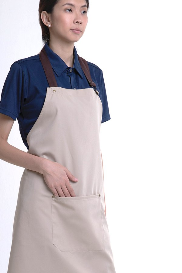Full Apron With Patch Pocket (FHG-18718)