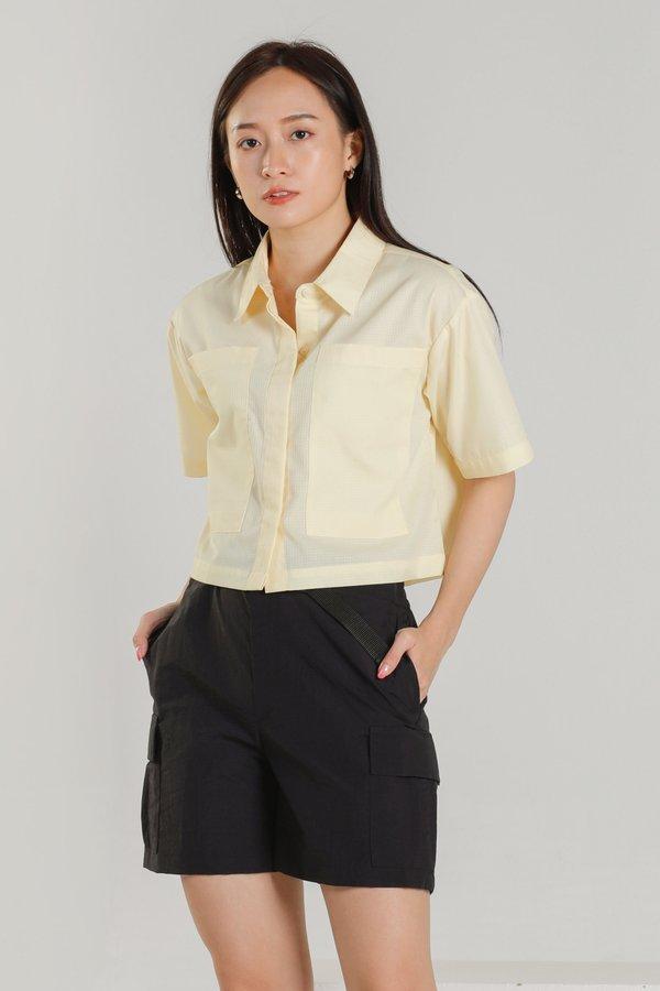 Jayne Big Pocket Top - Yellow