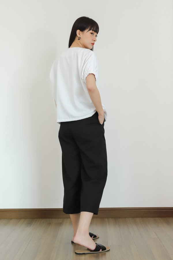 Anna Concealed Zip Top - White