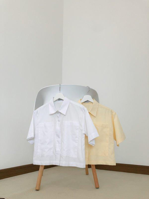 Jayne Big Pocket Top - White