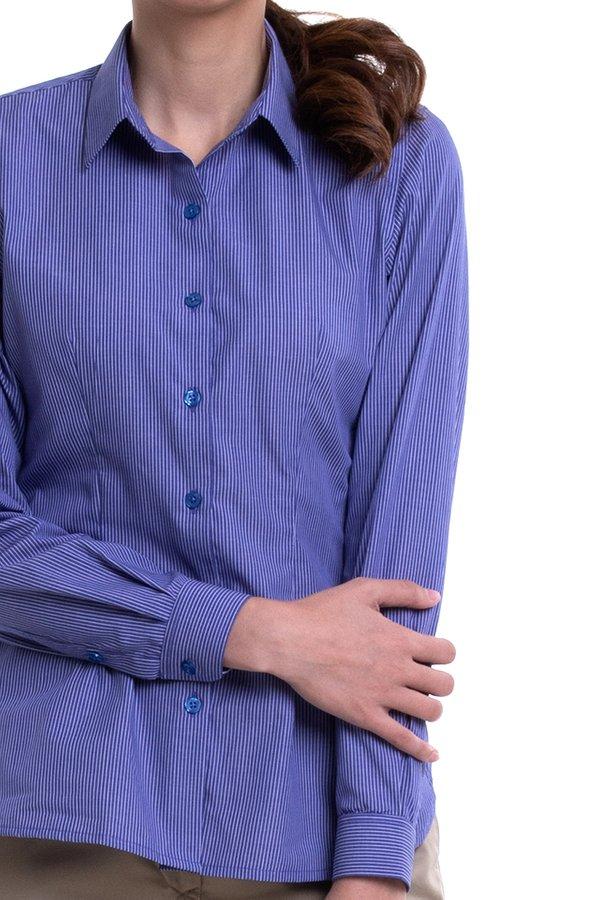 Ladies Long Sleeve Mini Collar Blouse (FHA-1818)