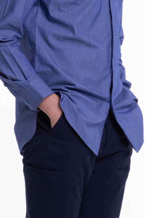 Men's Long Sleeve Shirt with Placket Detail (FHA-1819)