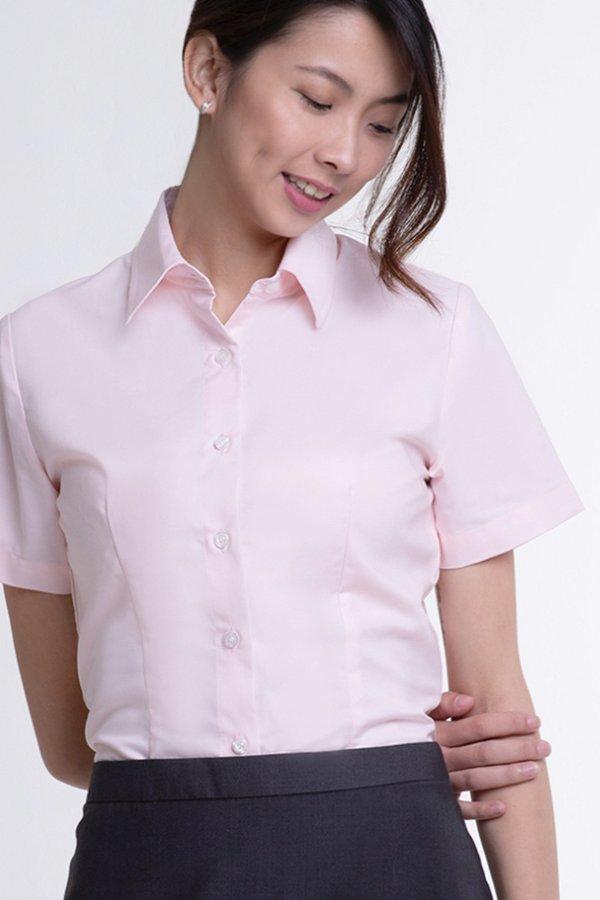 Ladies Classic Short Sleeve Blouse (FHA-1816)