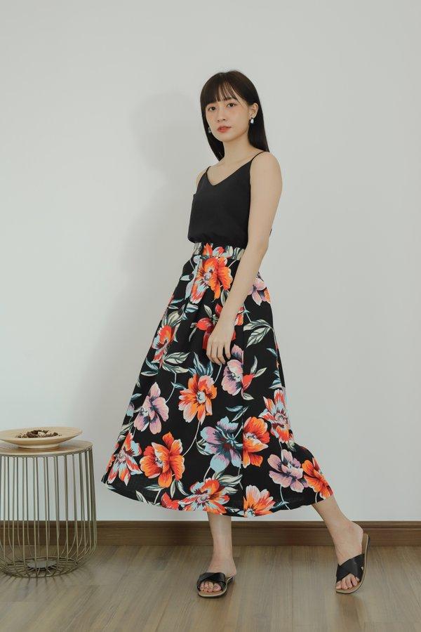 August Floral Midi Skirt