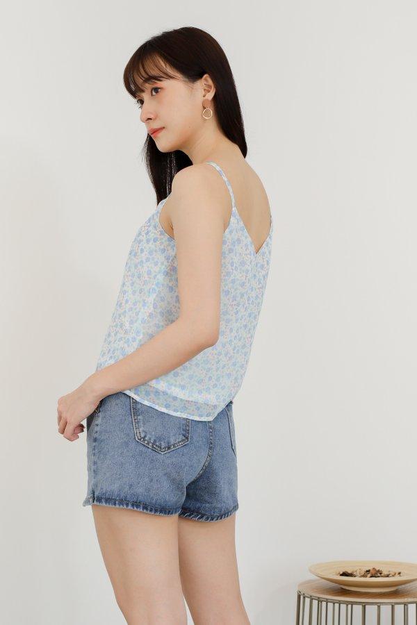 Mellow Cami Top - Baby Blue Floral