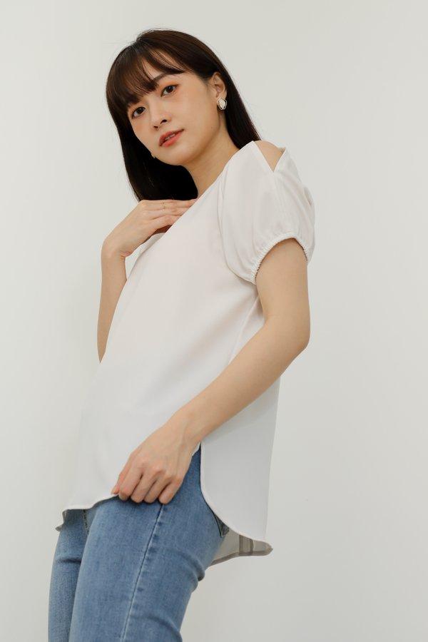 Bevlyn Cold Shoulder Blouse - Ivory