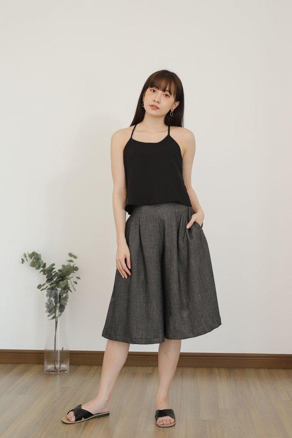 Becka Culotte Pant - Dark Grey