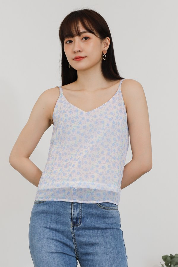 Mellow Cami Top - Baby Purple Floral