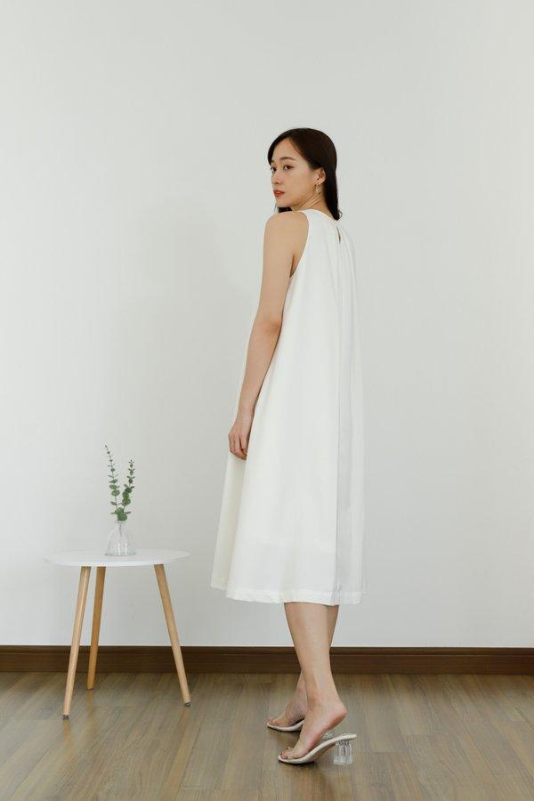 Ophelia Flared Midi Dress - Ivory