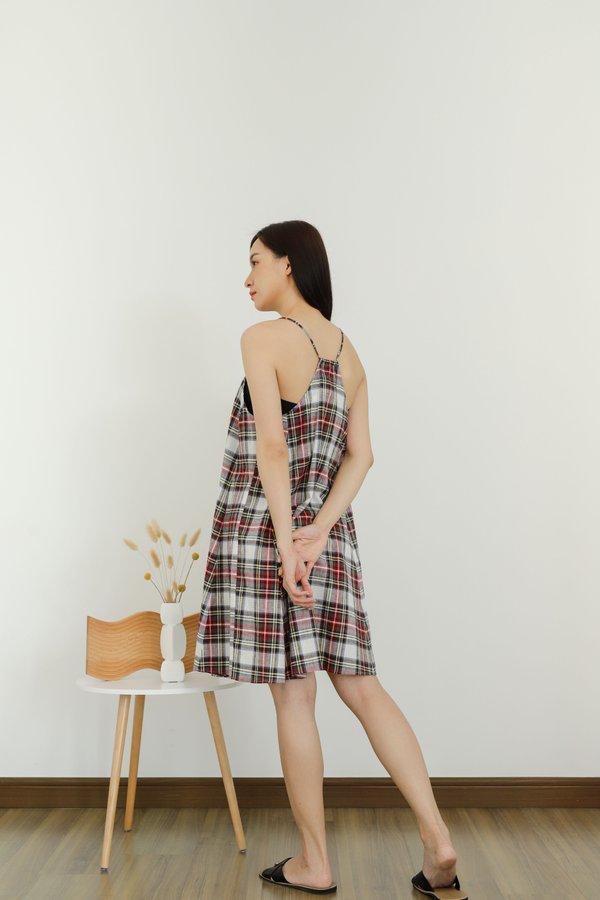 Zyanya Relaxed Summer Dress - Checks
