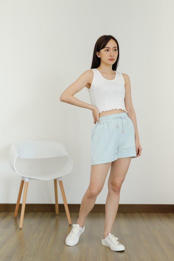 Leia Lounge Shorts - Blue Stripes