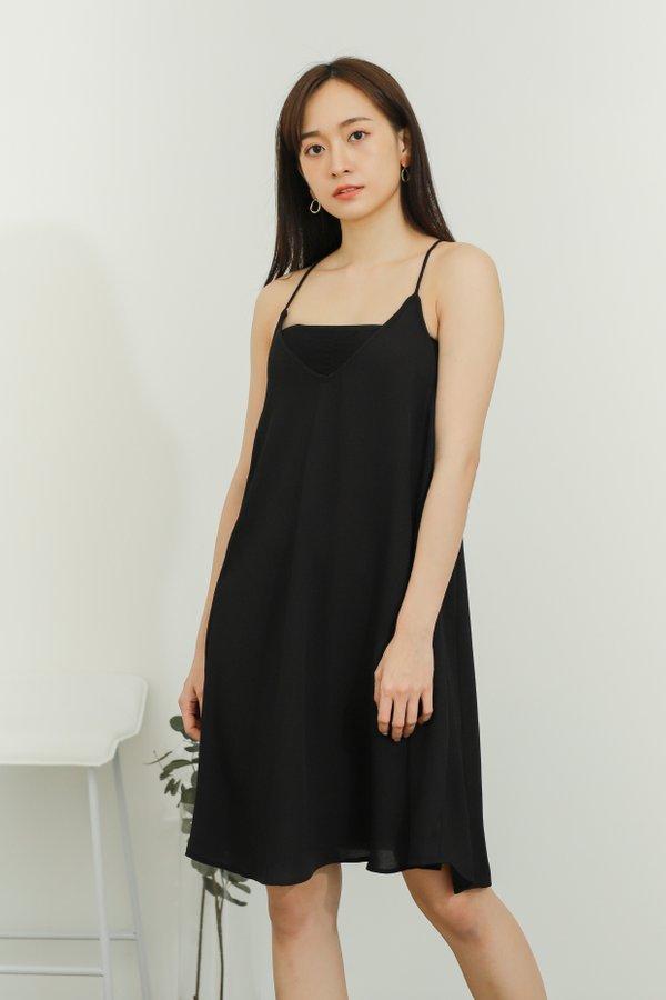 Zyanya Relaxed Summer Dress - Black